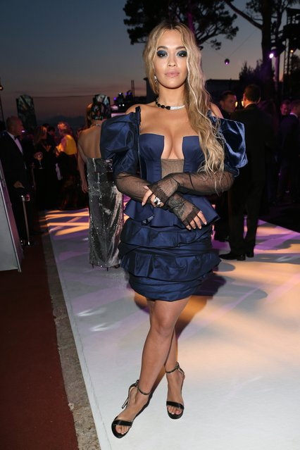 """Rita Ora during the DeGrisogono """"Love On The Rocks"""" gala during the 70th annual Cannes Film Festival at Hotel du Cap-Eden-Roc on May 23, 2017 in Cap d'Antibes, France. (Photo by Gisela Schober/Getty Images)"""