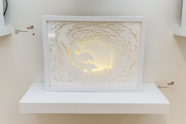 Illuminated Cut Paper Light Boxes By Hari And Deepti