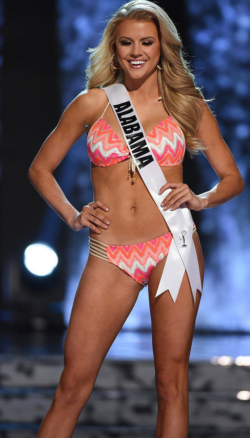 Miss Alabama USA Peyton Brown competes in the swimsuit competition during the 2016 Miss USA pageant preliminary competition at T-Mobile Arena on June 1, 2016 in Las Vegas, Nevada. (Photo by Ethan Miller/Getty Images)