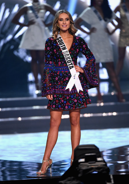 Miss South Dakota USA 2016 Madison McKeown is named a top 15 finalist during the 2016 Miss USA pageant at T-Mobile Arena on June 5, 2016 in Las Vegas, Nevada. (Photo by Ethan Miller/Getty Images)