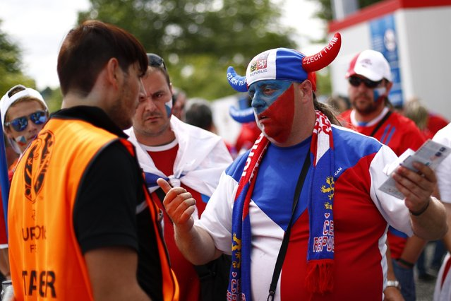 Football Soccer, Czech Republic vs Croatia, EURO 2016, Group D, Stade Geoffroy-Guichard, Saint-Étienne, France on June 17, 2016. Fans are searched by security outside the stadium before the match. (Photo by Max Rossi/Reuters/Livepic)
