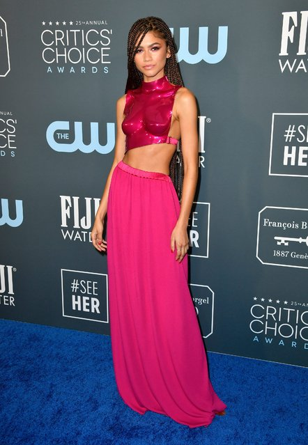 Zendaya attends the 25th Annual Critics' Choice Awards at Barker Hangar on January 12, 2020 in Santa Monica, California. (Photo by Frazer Harrison/Getty Images)