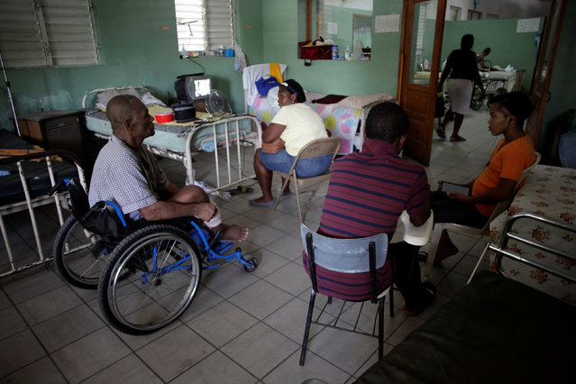 Patients and companions stay at a room in the Hospital of the State University of Haiti, which is one of the centers affected by a three-month-long strike by health workers demanding a pay rise and resources, in Port-au-Prince, Haiti, June 20, 2016. (Photo by Andres Martinez Casares/Reuters)