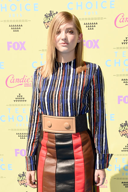 Actress Willow Shields attends the Teen Choice Awards 2015 at the USC Galen Center on August 16, 2015 in Los Angeles, California. (Photo by Steve Granitz/WireImage)