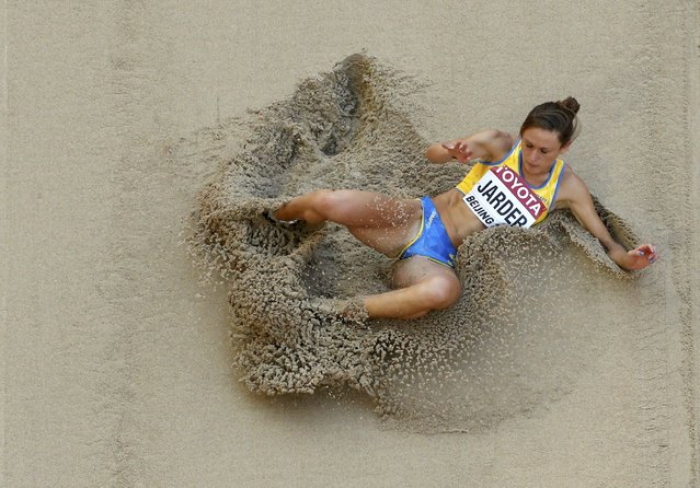Erica Jarder of Sweden competes in the women's long jump qualifying round during the 15th IAAF World Championships at the National Stadium in Beijing, China, August 27, 2015. (Photo by Kim Kyung-Hoon/Reuters)
