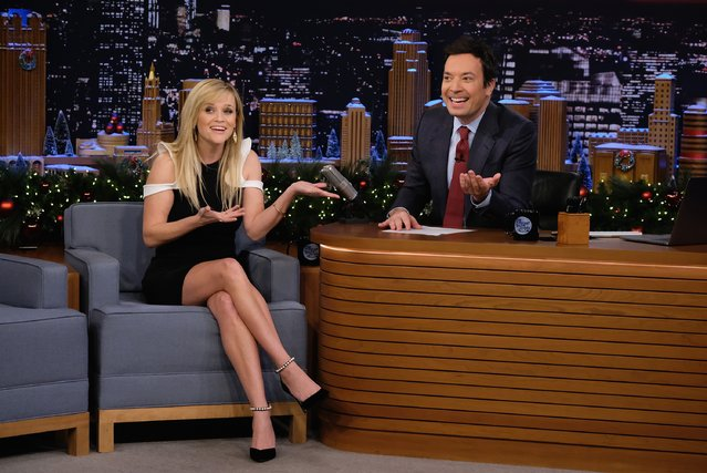 "Reese Witherspoon Visits ""The Tonight Show Starring Jimmy Fallon"" at Rockefeller Center on December 16, 2016 in New York City. (Photo by Theo Wargo/Getty Images)"
