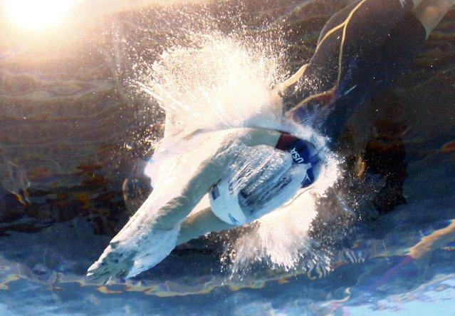 2016 Rio Olympics, Swimming, Preliminary, Women's 400m Freestyle, Heats, Olympic Aquatics Stadium, Rio de Janeiro, Brazil on August 6, 2016. Katie Ledecky (USA) of USA competes. (Photo by Michael Dalder/Reuters)