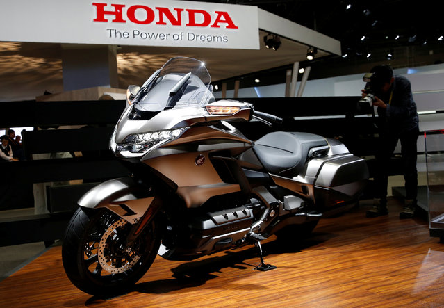 Honda Motor displays Gold Wing during media preview of the 45th Tokyo Motor Show in Tokyo, Japan on October 25, 2017. (Photo by Toru Hanai/Reuters)