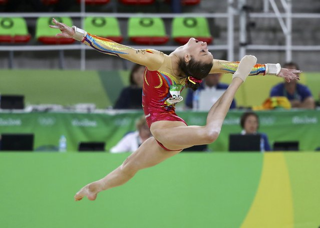 2016 Rio Olympics, Artistic Gymnastics, Final, Women's Individual All-Around Final, Rio Olympic Arena, Rio de Janeiro, Brazil on August 11, 2016. Nina Derwael (BEL) of Belgium competes on the floor exercise. (Photo by Mike Blake/Reuters)