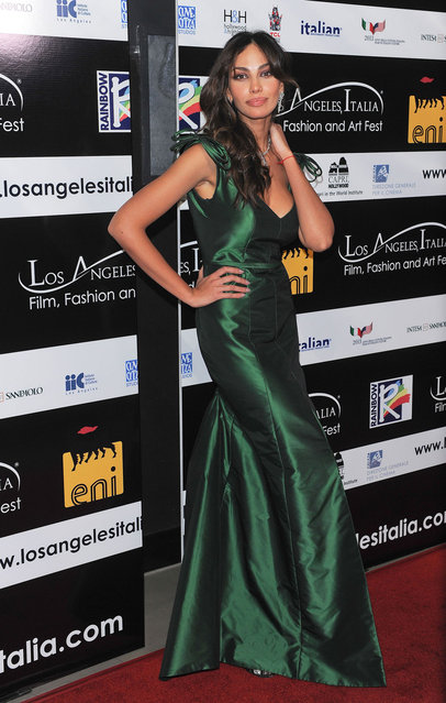 Madalina Ghenea arrives at The 8th Annual Los Angeles, Italia Film, Fashion And Art Festival held at Chinese 6 Theatres on February 17, 2013 in Hollywood, California. (Photo by Michael Tran/FilmMagic)