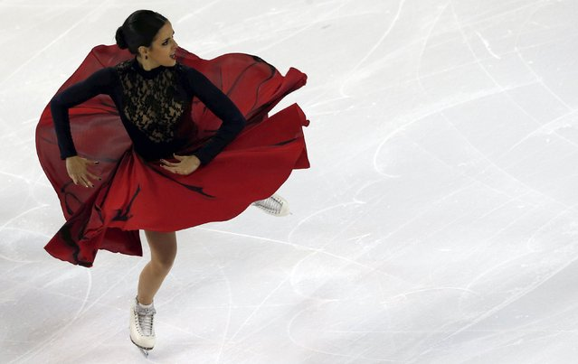 Sara Hurtado and Adria Diaz (not pictured) of Spain compete during their ice dance short program at the ISU Bompard Trophy Figure Skating competition in Bordeaux November 21, 2014. (Photo by Regis Duvignau/Reuters)