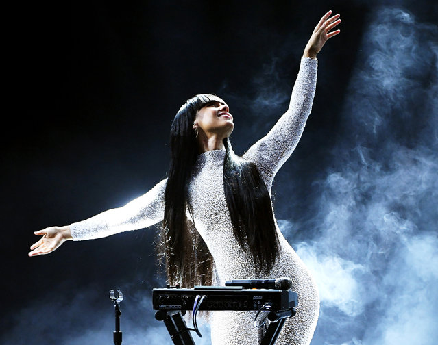 In this image released on October 14, Alicia Keys performs onstage at the 2020 Billboard Music Awards, broadcast on October 14, 2020 at the Dolby Theatre in Los Angeles, CA. (Photo by Kevin Winter/BBMA2020/Getty Images for dcp)
