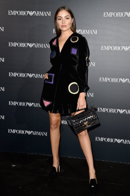 Olivia Culpo attends the Emporio Armani show as part of the Paris Fashion Week Womenswear Spring/Summer 2017  on October 3, 2016 in Paris, France. (Photo by Pascal Le Segretain/Getty Images)