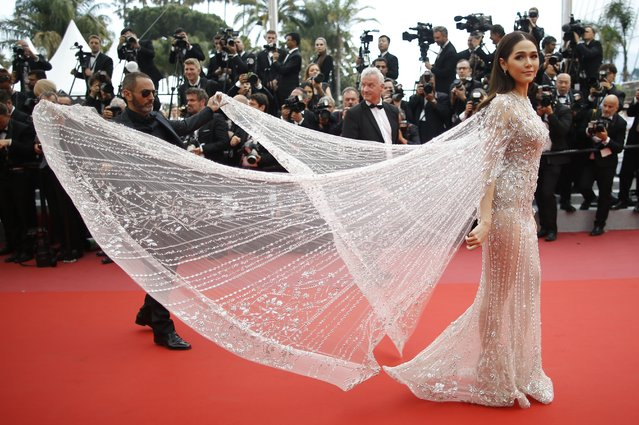 Araya Hargate arrives for the screening of the film Sorry Angel (Plaire, aimer et courir vite) May 10, 2018 during the 71st annual Cannes Film Festival in Cannes, France. (Photo by Stephane Mahe/Reuters)