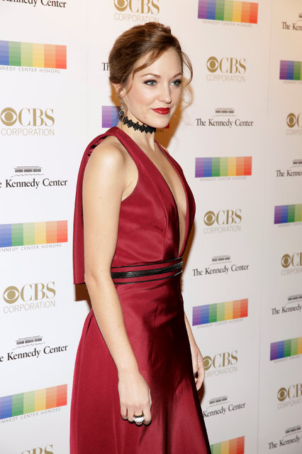 Actor Laura Osnes arrives for the Kennedy Center Honors in Washington, U.S. December 4, 2016. (Photo by Joshua Roberts/Reuters)