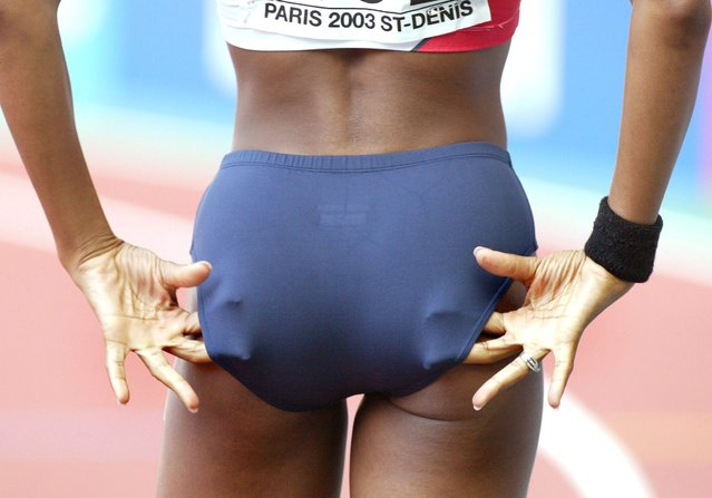WM 2003, Paris; 200 m/Frauen; Joice MADUAKA/GBR  (Photo by Alexander Hassenstein/Bongarts/Getty Images)