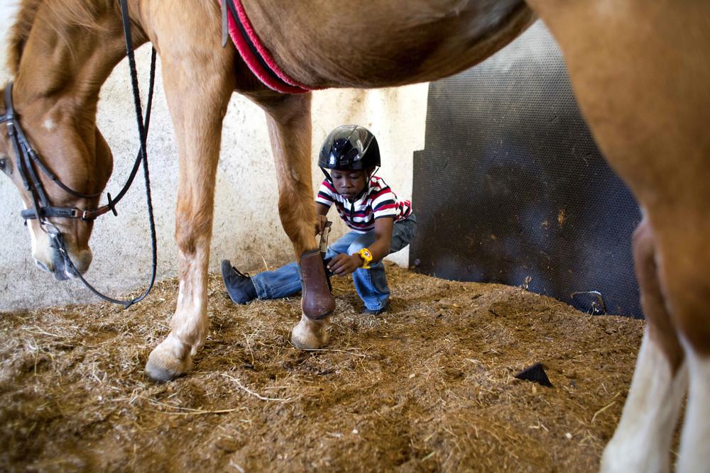 Horse Riding Improves Life for Disabled Haiti Boy