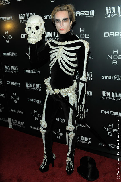 Austin Scarlett attends Heidi Klum's 12th annual Halloween party