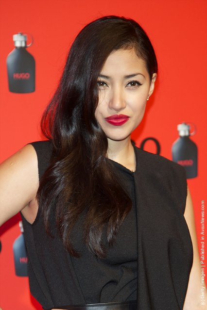 Actress Giselle Calderon attends Hugo Boss night party 2011