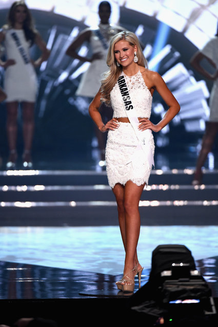Miss Arkansas USA 2016 Abby Floyd is named a top 15 finalist during the 2016 Miss USA pageant at T-Mobile Arena on June 5, 2016 in Las Vegas, Nevada. (Photo by Ethan Miller/Getty Images)