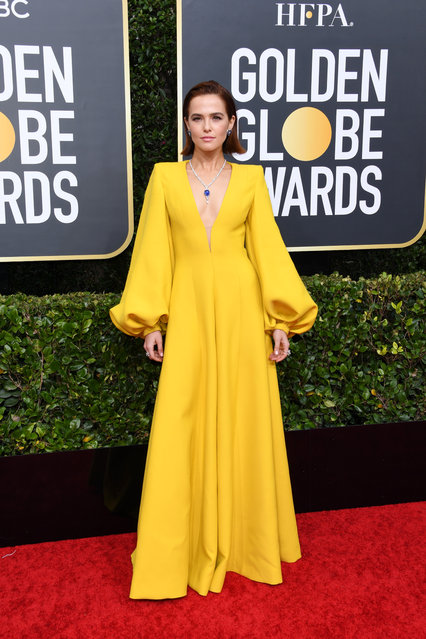 Zoey Deutch attends the 77th Annual Golden Globe Awards at The Beverly Hilton Hotel on January 05, 2020 in Beverly Hills, California. (Photo by Jon Kopaloff/Getty Images)