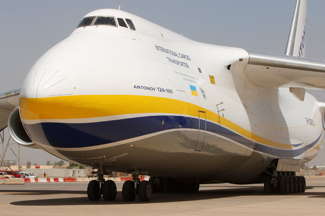 An Antonov plane carrying a French weapon donation to the Iraqi government to help in its fight against Islamic State militants, lands in Baghdad, Iraq June 17, 2016. (Photo by Ahmed Saad/Reuters)