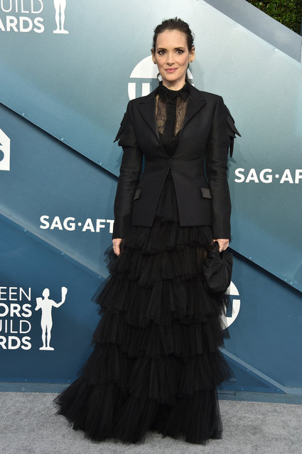 Winona Ryder attends the 26th Annual Screen ActorsGuild Awards at The Shrine Auditorium on January 19, 2020 in Los Angeles, California. (Photo by Gregg DeGuire/Getty Images for Turner)