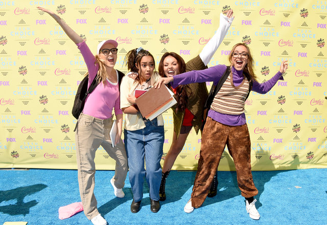 (L-R) Singers Perrie Edwards, Leigh-Anne Pinnock, Jesy Nelson and Jade Thirlwall of Little Mix attend the Teen Choice Awards 2015 at the USC Galen Center on August 16, 2015 in Los Angeles, California. (Photo by Jason Merritt/Getty Images)