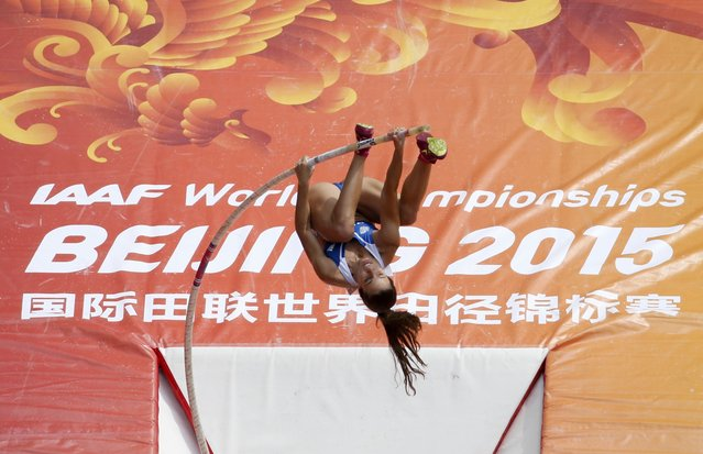 Ekaterini Stefanidi of Greece competes in the women's pole vault qualifying round during the 15th IAAF World Championships at the National Stadium in Beijing, China, August 24, 2015. (Photo by Fabrizio Bensch/Reuters)