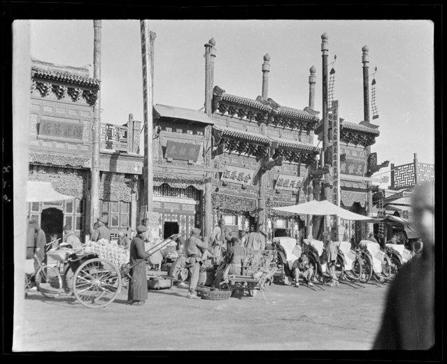 Stove. China, Beijing, 1917-1919. (Photo by Sidney David Gamble)