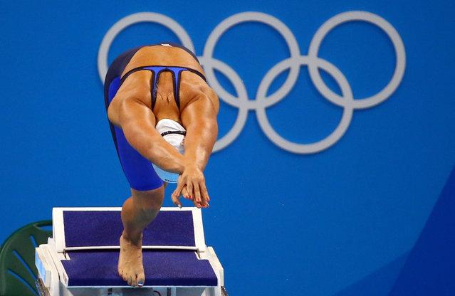 2016 Rio Olympics, Swimming, Preliminary, Women's 400m Freestyle, Heats, Olympic Aquatics Stadium, Rio de Janeiro, Brazil on August 7 2016. Sharon van Rouwendaal (NED) of Netherlands competes. (Photo by David Gray/Reuters)