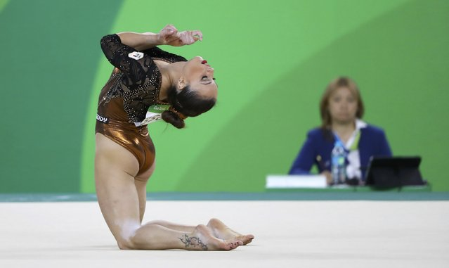 2016 Rio Olympics, Artistic Gymnastics, Final, Women's Individual All-Around Final, Rio Olympic Arena, Rio de Janeiro, Brazil on August 11, 2016. Vanessa Ferrari (ITA) of Italy competes on the floor exercise. (Photo by Mike Blake/Reuters)