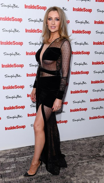 Gemma Merna attends the Inside Soap Awards at The Hippodrome on November 6, 2017 in London, England. (Photo by David Fisher/Rex Features/Shutterstock)