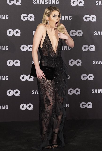 """Spanish TV presenter Adriana Abenia attends the """"GQ Men of the Year"""" awards 2017 at the Palace Hotel on November 16, 2017 in Madrid, Spain. (Photo by Carlos Alvarez/Getty Images)"""