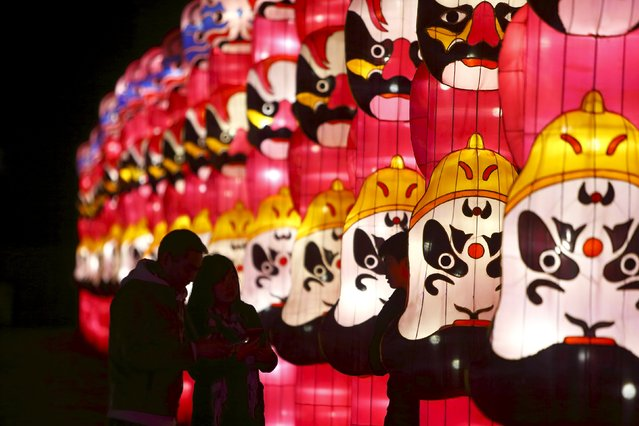 People attend the Dandenong Festival of Lights in the suburb of Dandenong in Melbourne, Australia, September 23, 2015. (Photo by Darrin Zammit Lupi/Reuters)