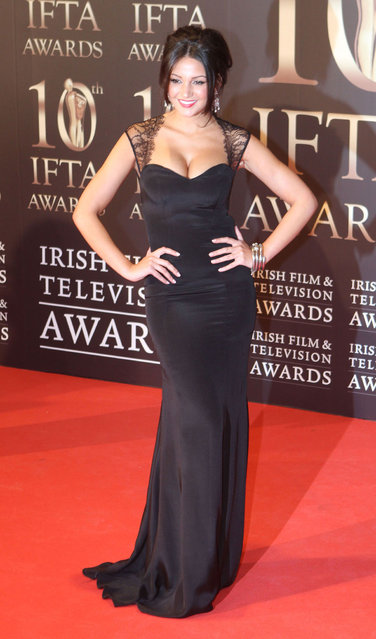 Michelle Keegan attends the Irish Film and Television Awards at the Convention Centre Dublin on February 9, 2013 in Dublin, Ireland. (Photo by Phillip Massey/WireImage)