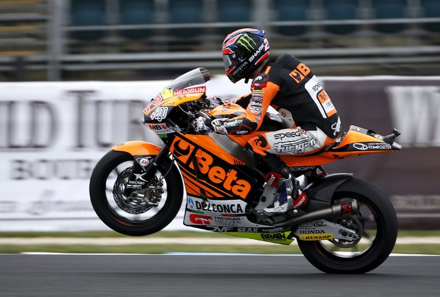 Speed Up Racing Moto2 rider Sam Lowes of Britain rides during free practice 1 before the Australian Grand Prix on Phillip Island October 16, 2015. (Photo by Brandon Malone/Reuters)