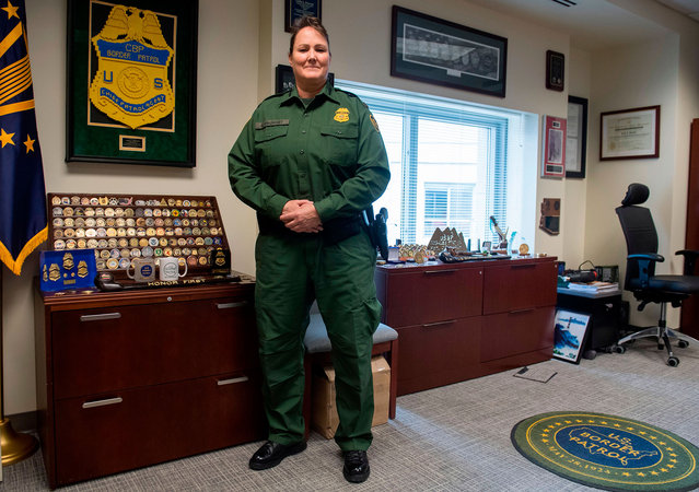 Carla Provost, Acting Chief of the US Border Patrol in her office at US Border Patrol Headquarters in Washington, DC, March 7, 2018. (Photo by Saul Loeb/AFP Photo)