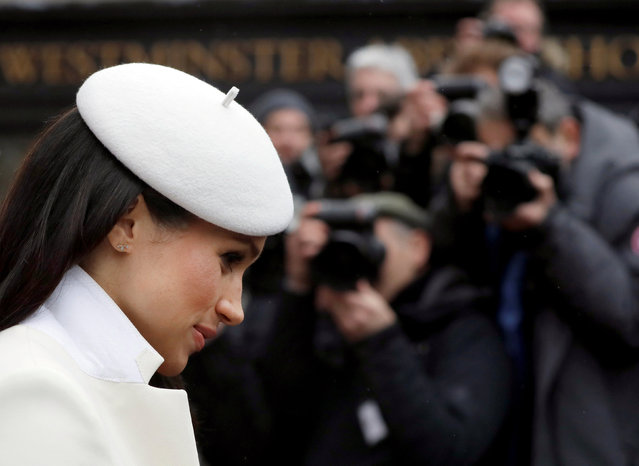 Meghan Markle leaves after attending the Commonwealth Service at Westminster Abbey in London, Britain  March 12, 2018. (Photo by Kirsty Wigglesworth/Reuters)
