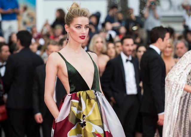 """Actress Amber Heard attends the screening of """"Sorry Angel (Plaire, Aimer Et Courir Vite)"""" during the 71st annual Cannes Film Festival at Palais des Festivals on May 10, 2018 in Cannes, France. (Photo by Arthur Mola/Invision/AP Photo)"""
