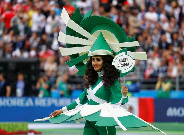 A performer during the opening ceremony before the Russia 2018 World Cup Group A football match between Russia and Saudi Arabia at the Luzhniki Stadium in Moscow on June 14, 2018. (Photo by Kai Pfaffenbach/Reuters)