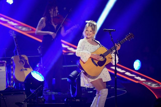 American country musician Hailey Whitters performs during the 2021 CMT Music Awards at Bridgestone Arena in Nashville, Tennessee, U.S. June 9, 2021. (Photo by Harrison McClary/Reuters)