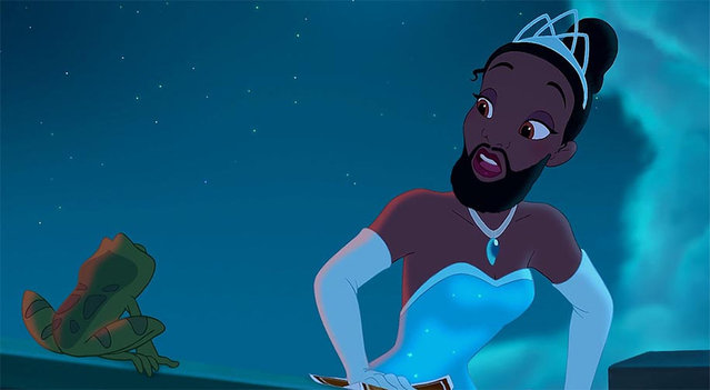 """Bearded Disney Princesses By Adam Ellis"
