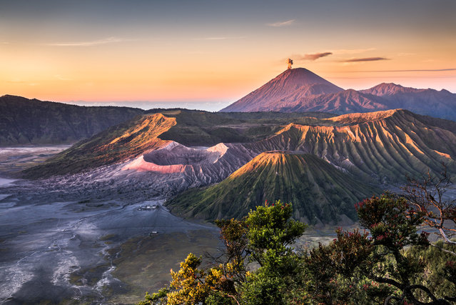 """Bromo Sunrise"". Mount Bromo, Indonesia. (Photo and caption by Andreas Wonisch)"