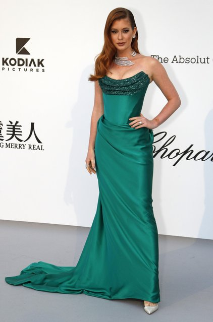 Marina Ruy Barbosa poses for photographers upon arrival at the amfAR, Cinema Against AIDS, benefit at the Hotel du Cap-Eden-Roc, during the 72nd international Cannes film festival, in Cap d'Antibes, southern France, Thursday, May 23, 2019. (Photo by Eric Gaillard/Reuters)
