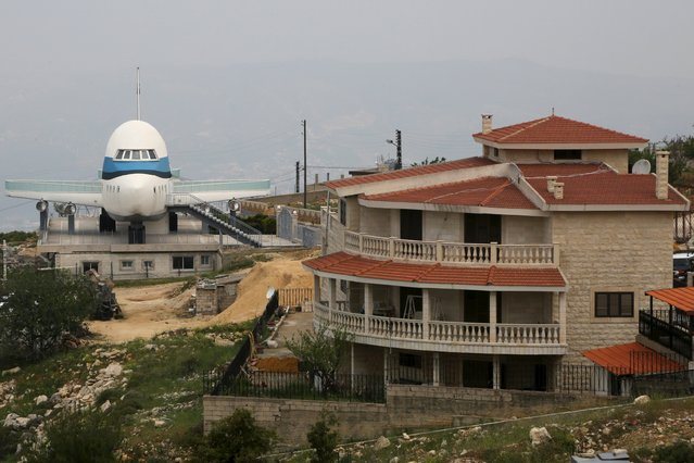 A view shows an airplane house in the village of Miziara, northern Lebanon May 12, 2015. (Photo by Aziz Taher/Reuters)