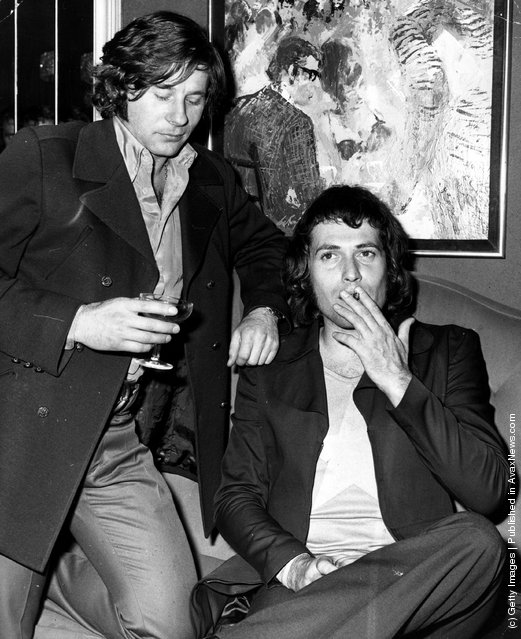 1970: Roman Polanski with actor Jon Finch, who has snared the title role in Polanski's upcoming film version of 'Macbeth'. The two men are attending a press reception in London to announce the initial casting choices
