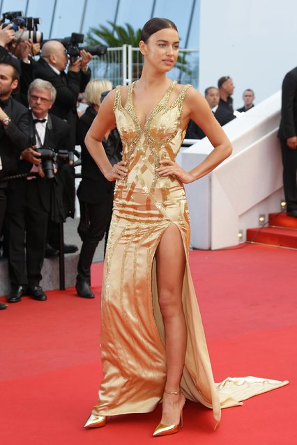 In this May 19, 2015 file photo, model Irina Shayk poses for photographers upon arrival for the screening of the film Sicario at the 68th international film festival, Cannes, southern France.Fashion highlights from the 68th Cannes international film festival. (Photo by Lionel Cironneau/AP Photo)