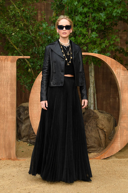 Jennifer Lawrence attends the Christian Dior Womenswear Spring/Summer 2020 show as part of Paris Fashion Week on September 24, 2019 in Paris, France. (Photo by Pascal Le Segretain/Getty Images)