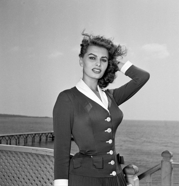 Hollywood royalty Sophia Loren at Cannes Film Festival, France, 1954. (Photo by SIPA Press/Rex Features/Shutterstock)